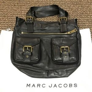 Marc Jacobs Black Leather Should Hand Bag